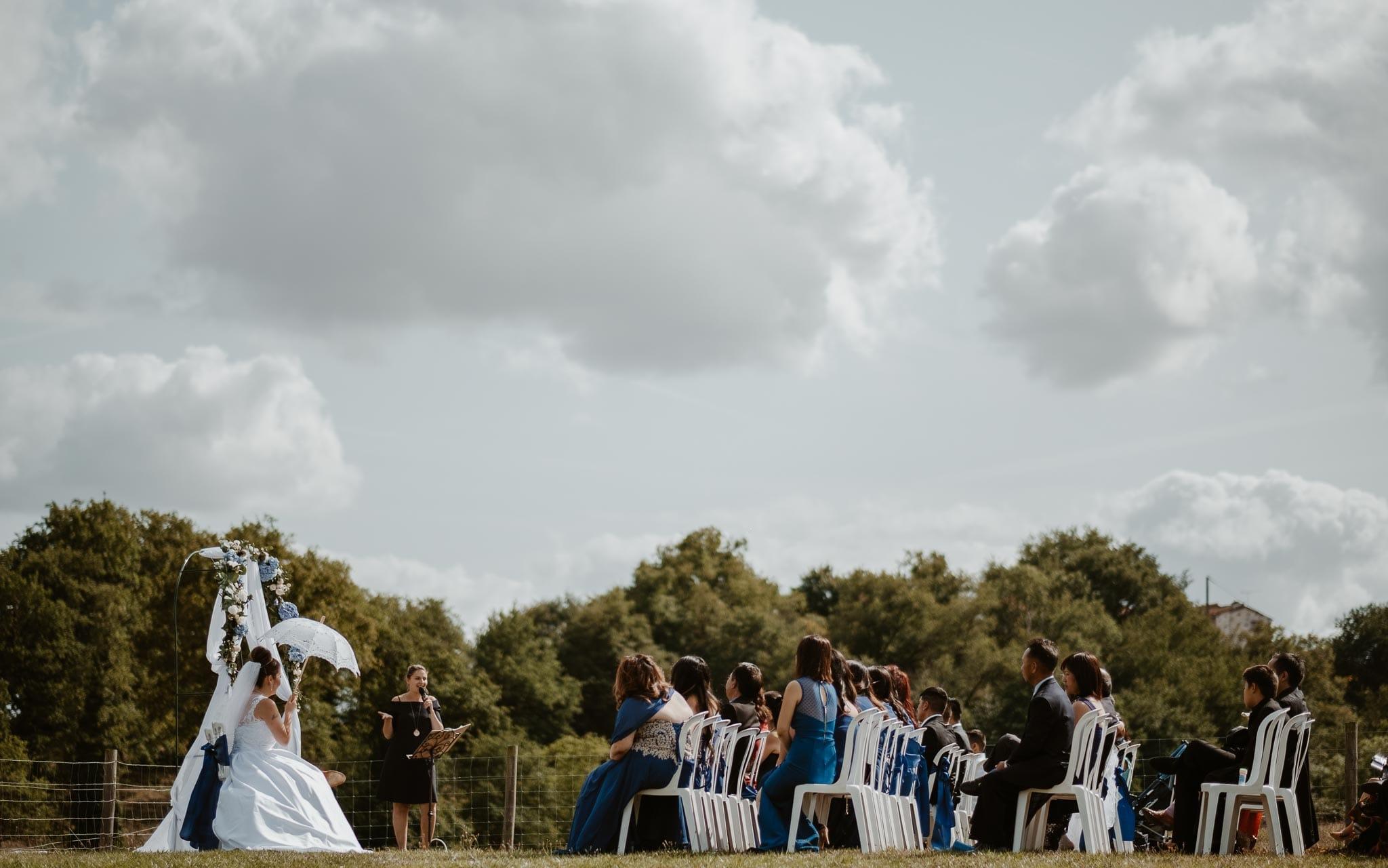 photographies d'un mariage multi-culturel asiatique américain en Vendée