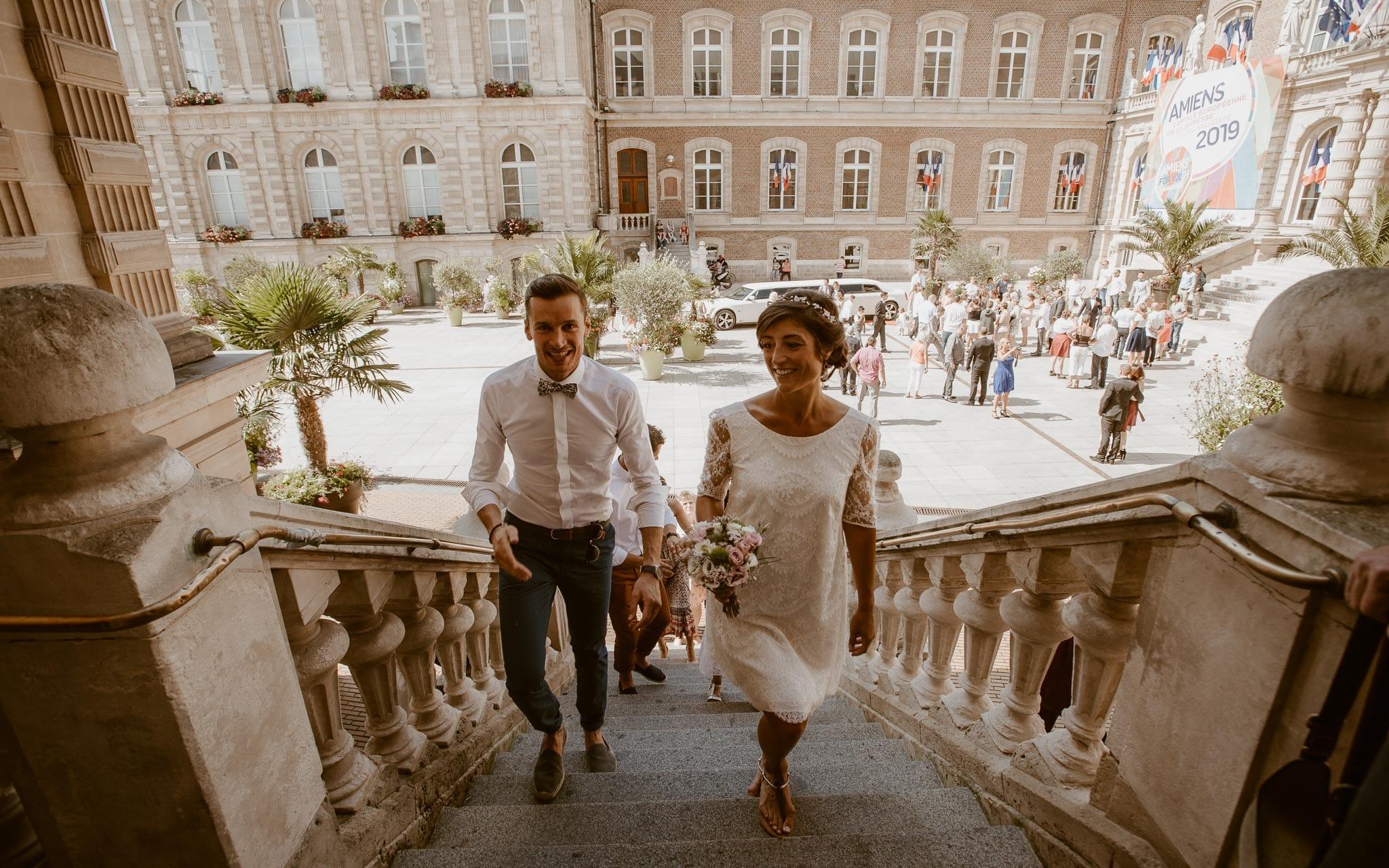 photographies d'un mariage boho chic à Amiens et Montreuil-sur-mer