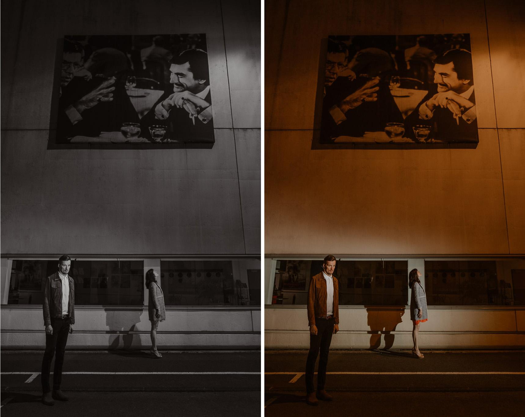 photo d'une séance de couple day-after originale & créative inspirée des univers du cinéma et de la mode par Geoffrey Arnoldy photographe