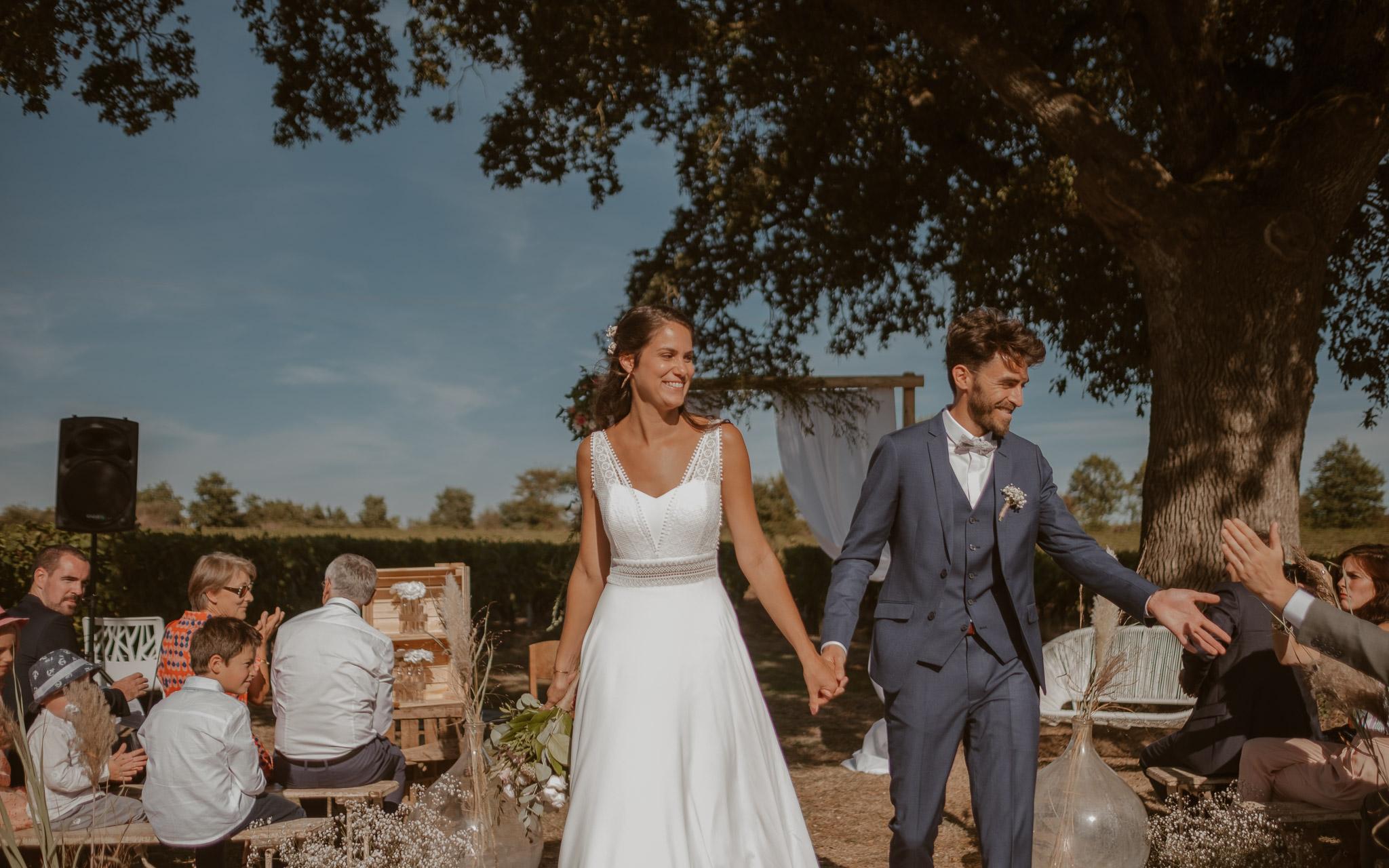 photographies d'un mariage boho-chic dans le vignoble à nantes