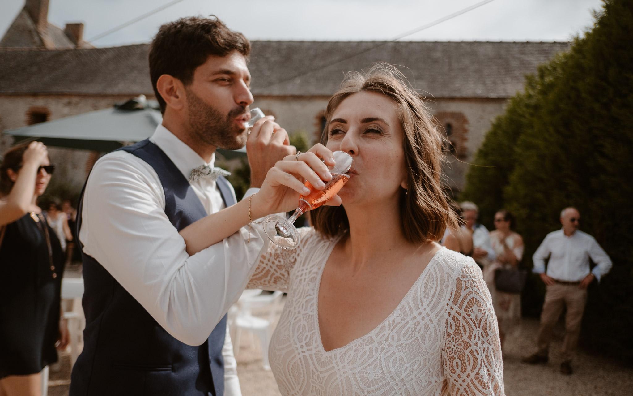 photographies d'un mariage chic à Basse-Goulaine et au Château de la Sénaigerie à Bouaye