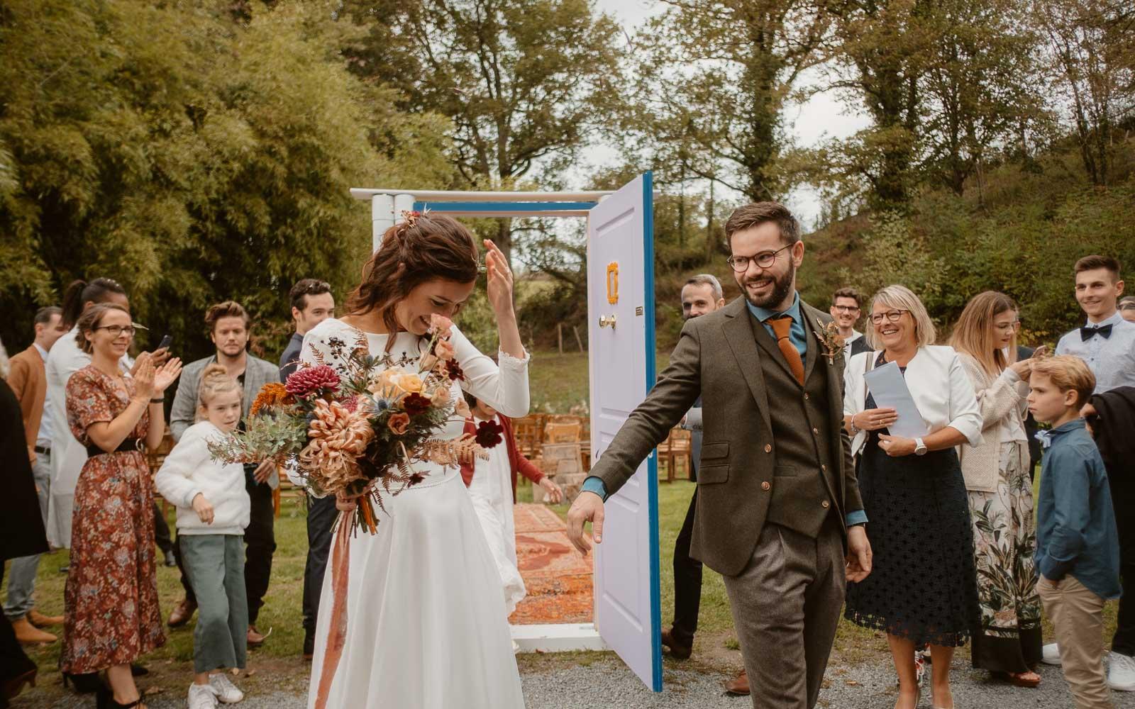 photographies d'un mariage conte d'automne au domaine du Moulin Neuf à Montrevault-sur-Èvre