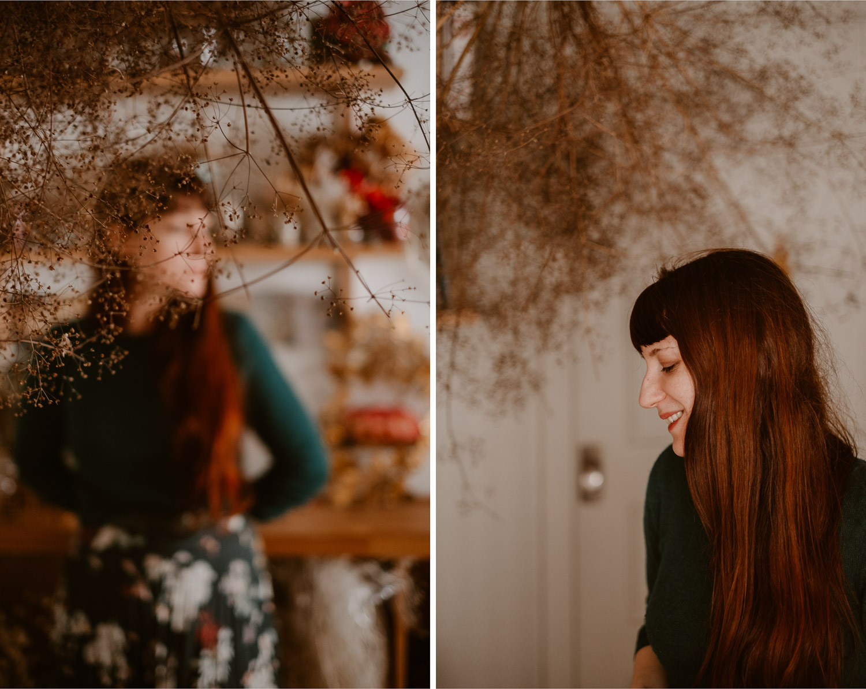 photographies d'une artiste créatrice dans son atelier boutique à Saumur
