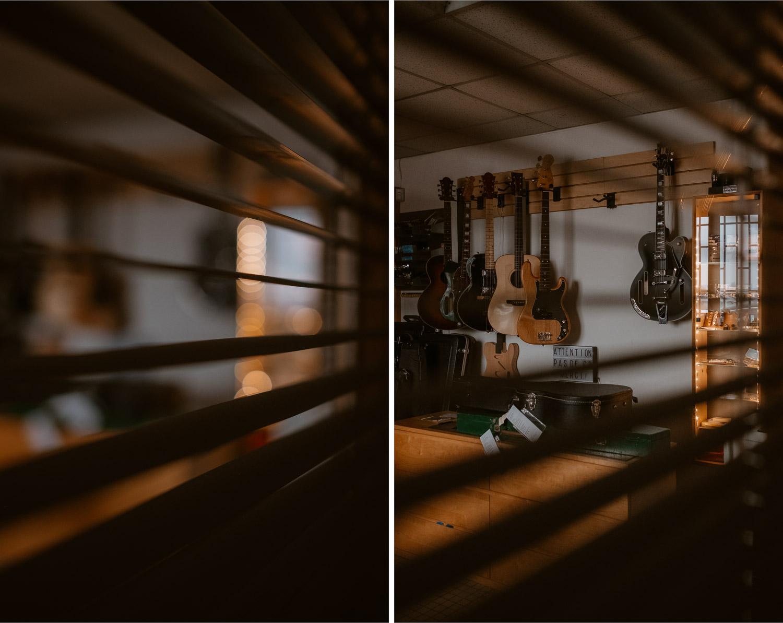 photographies d'un luthier guitare artisan d'art & créateur dans son atelier sur l'ïle de Nantes
